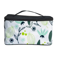 Hand drawm seamless floral pattern Cosmetic Storage Case