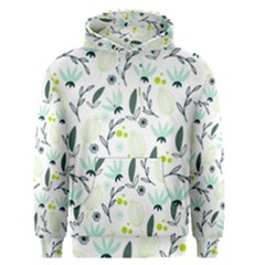 Hand drawm seamless floral pattern Men s Pullover Hoodie