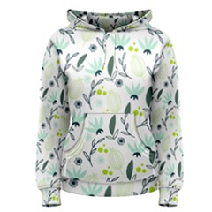 Hand drawm seamless floral pattern Women s Pullover Hoodie