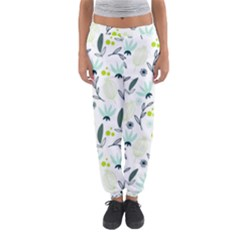 Hand drawm seamless floral pattern Women s Jogger Sweatpants