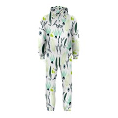 Hand drawm seamless floral pattern Hooded Jumpsuit (Kids)