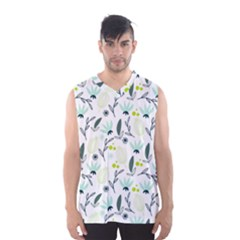 Hand drawm seamless floral pattern Men s Basketball Tank Top