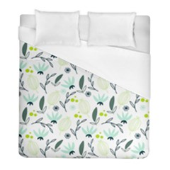 Hand drawm seamless floral pattern Duvet Cover (Full/ Double Size)