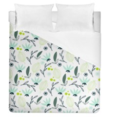 Hand drawm seamless floral pattern Duvet Cover (Queen Size)