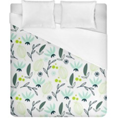 Hand drawm seamless floral pattern Duvet Cover (California King Size)