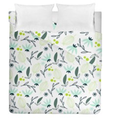 Hand drawm seamless floral pattern Duvet Cover Double Side (Queen Size)