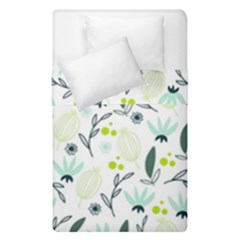 Hand drawm seamless floral pattern Duvet Cover Double Side (Single Size)