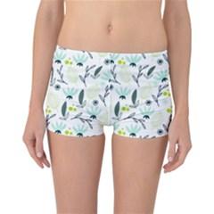 Hand drawm seamless floral pattern Reversible Bikini Bottoms