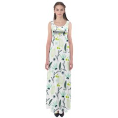 Hand drawm seamless floral pattern Empire Waist Maxi Dress
