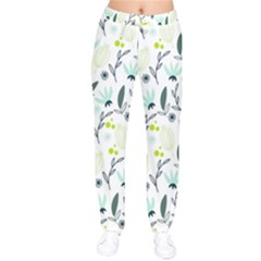 Hand drawm seamless floral pattern Drawstring Pants