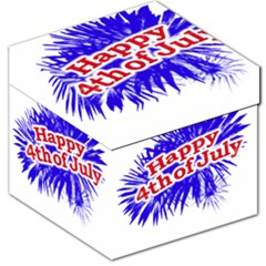 Happy 4th Of July Graphic Logo Storage Stool 12