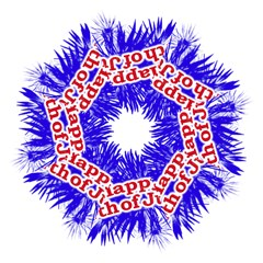 Happy 4th Of July Graphic Logo Hook Handle Umbrellas (Medium)