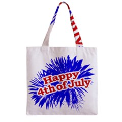 Happy 4th Of July Graphic Logo Grocery Tote Bag