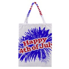 Happy 4th Of July Graphic Logo Classic Tote Bag