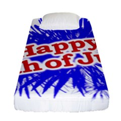 Happy 4th Of July Graphic Logo Fitted Sheet (Single Size)