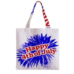 Happy 4th Of July Graphic Logo Zipper Grocery Tote Bag