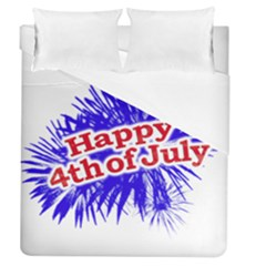 Happy 4th Of July Graphic Logo Duvet Cover (Queen Size)