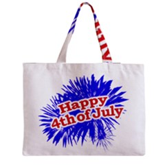Happy 4th Of July Graphic Logo Medium Tote Bag