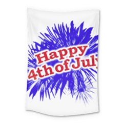 Happy 4th Of July Graphic Logo Small Tapestry