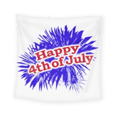 Happy 4th Of July Graphic Logo Square Tapestry (Small)