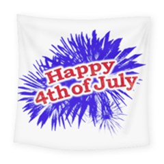 Happy 4th Of July Graphic Logo Square Tapestry (Large)