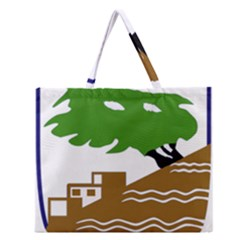 Coat of Arms of Holon  Zipper Large Tote Bag