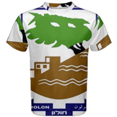 Coat of Arms of Holon  Men s Cotton Tee