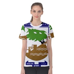 Coat of Arms of Holon  Women s Cotton Tee