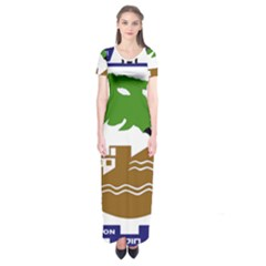 Coat of Arms of Holon  Short Sleeve Maxi Dress