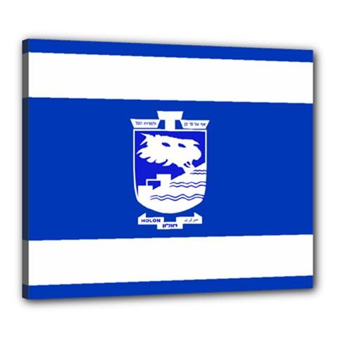 Flag of Holon  Canvas 24  x 20