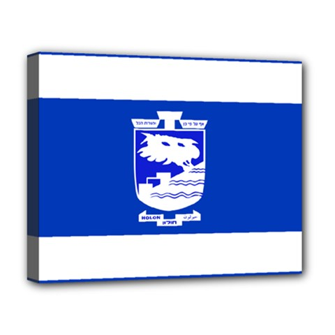Flag of Holon  Deluxe Canvas 20  x 16