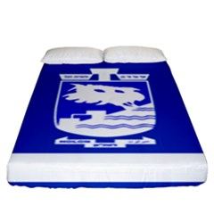 Flag of Holon  Fitted Sheet (King Size)