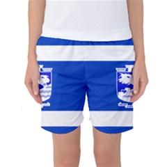 Flag Of Holon  Women s Basketball Shorts