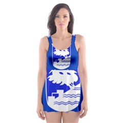 Flag of Holon  Skater Dress Swimsuit