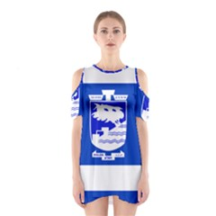 Flag of Holon  Shoulder Cutout One Piece