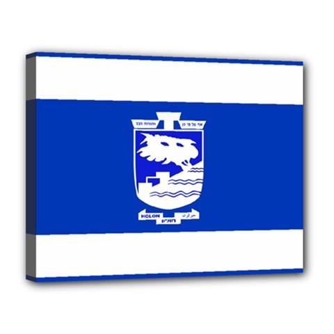 Flag of Holon  Canvas 14  x 11