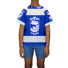 Flag of Holon  Kids  Short Sleeve Swimwear