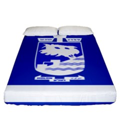 Flag of Holon  Fitted Sheet (Queen Size)