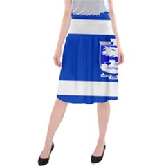 Flag of Holon  Midi Beach Skirt