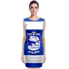 Flag of Holon  Sleeveless Velvet Midi Dress