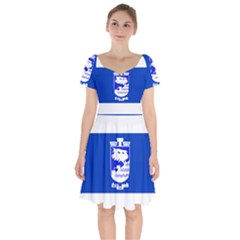 Flag of Holon  Short Sleeve Bardot Dress