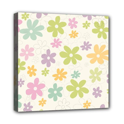 Beautiful spring flowers background Mini Canvas 8  x 8