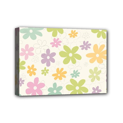 Beautiful spring flowers background Mini Canvas 7  x 5