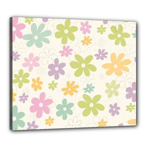 Beautiful spring flowers background Canvas 24  x 20
