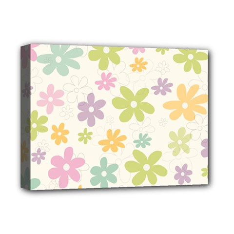 Beautiful spring flowers background Deluxe Canvas 16  x 12