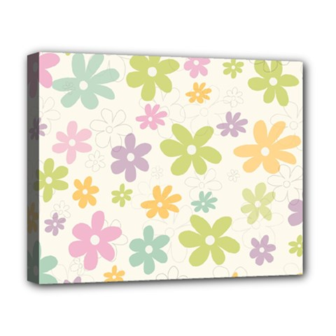 Beautiful spring flowers background Deluxe Canvas 20  x 16