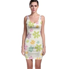 Beautiful spring flowers background Sleeveless Bodycon Dress