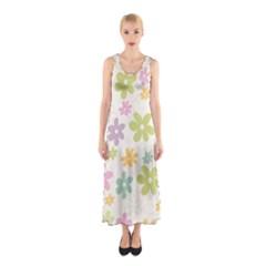 Beautiful spring flowers background Sleeveless Maxi Dress