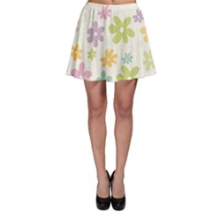 Beautiful spring flowers background Skater Skirt