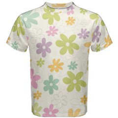 Beautiful spring flowers background Men s Cotton Tee